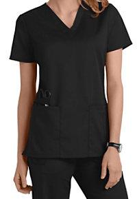 Cherokee Workwear Flex V-neck Scrub Tops With Certainty