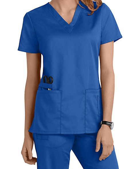 e4c9be572722 Cherokee Workwear Flex V-neck Scrub Tops With Certainty
