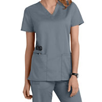Cherokee Workwear Flex V-neck Tops With Certainty