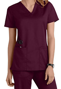 Cherokee Workwear Flex V-neck Scrub Tops With Certainty