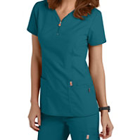 Code Happy Bliss Zipper Scrub Tops With Certainty
