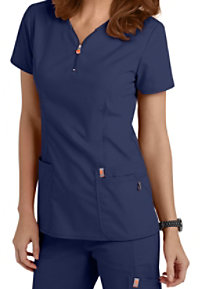 e7cca65860f See Details item #46600A · Code Happy Bliss Zipper V-neck Scrub Tops With  Certainty