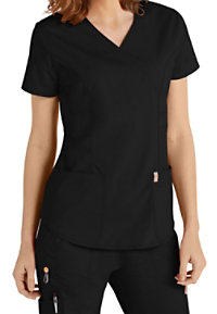 Code Happy Bliss Mock Wrap Scrub Tops With Certainty