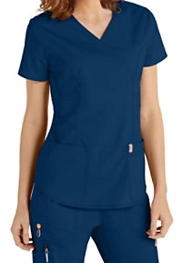 a1674173259 See Details item #46601A · Code Happy Bliss Mock Wrap Scrub Tops With  Certainty