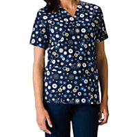Cherokee Scrub HQ Dots Wonderful Print Tops