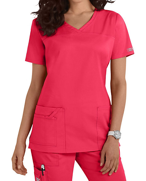 bc4d5982d3a2 Cherokee Workwear Core Stretch Shaped V-neck Scrub Tops