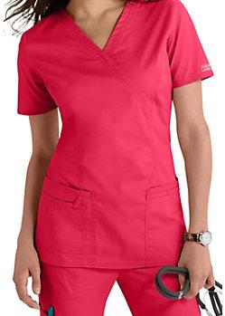 11465629bc7 Cherokee Workwear Core Stretch Mock-wrap Scrub Tops | Scrubs & Beyond