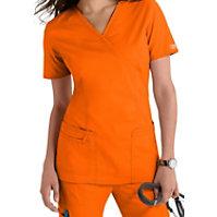 Cherokee Workwear Core Stretch Mock-wrap Tops