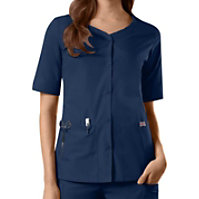 Cherokee Workwear Button Front Tops