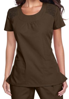 Cherokee Workwear Round Neck Scrub Tops