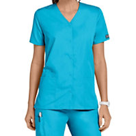 Cherokee Workwear Snap Front Tunic