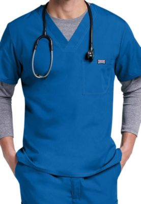 Cherokee Workwear Men's V-neck Scrub Tops