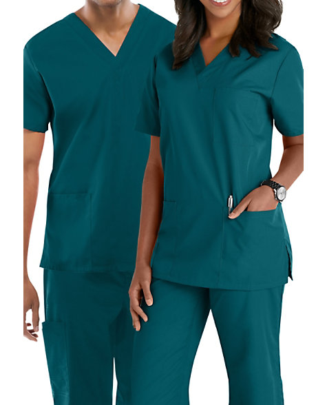 Cherokee Workwear Unisex V Neck Scrub Top Scrubs Amp Beyond