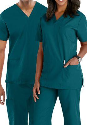 Cherokee Workwear Unisex V-neck Scrub Tops