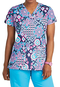 8e7afb2def2 See Details item #4979MT · Med Couture Folky Motifs Print Scrub Tops