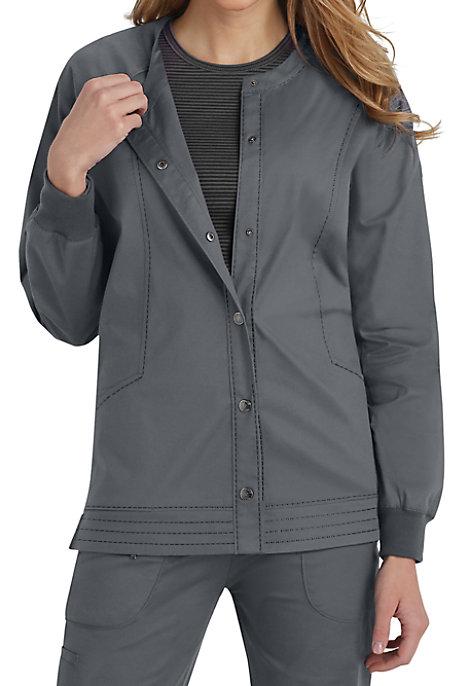beyond scrubs erin snap front scrub jacket
