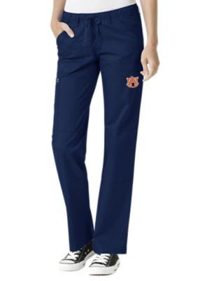 WonderWink Collegiate Auburn Tigers Women's Straight Leg Scrub Pant