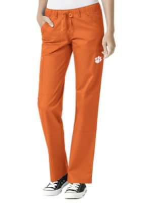 WonderWink Collegiate Clemson Tigers Women's Straight Leg Scrub Pant