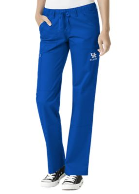 WonderWink Collegiate Kentucky Wildcats Women's Straight Leg Scrub Pant