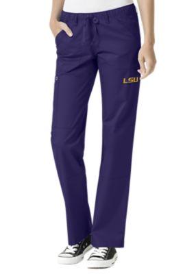 WonderWink Collegiate LSU Tigers Women's Straight Leg Scrub Pant