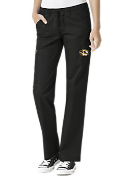 ef0022317b2 WonderWink Collegiate Missouri Tigers Women s Straight Leg Scrub Pant
