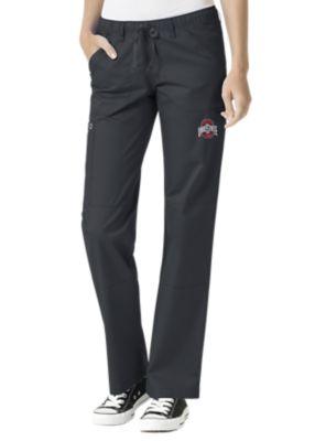 WonderWink Collegiate Ohio State Buckeyes Women's Straight Leg Scrub Pant