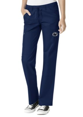 WonderWink Collegiate Penn State Nittany Lions Women's Straight Leg Scrub Pant