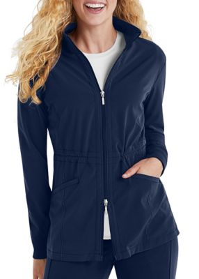 Beyond Scrubs Active Alli Zip Front Scrub Jackets