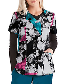Noir Bouquet V-Neck Top