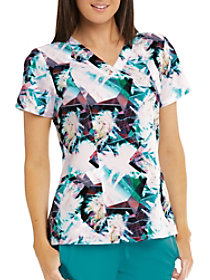 Palm Beach V-Neck Print Top
