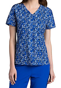 Barco One Synergy Colbalt 4-pocket Print Scrub Tops