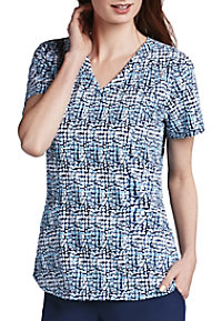 Barco One Velocity 4-pocket Print Scrub Tops