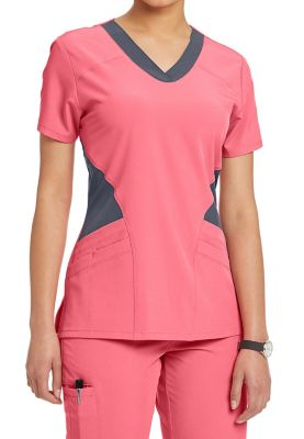 Barco One Contrast Mesh Inset Scrub Tops