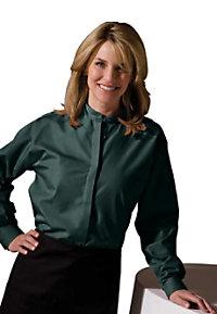 Edwards Garment Women's Banded Collar Hidden Button Shirt