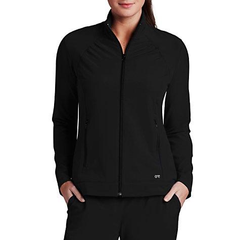 cb3e99d46dc Barco One 2 Pocket Crew Neck Zip Front Scrub Jacket   Uniform City