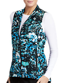 Night Bloom Print Vest