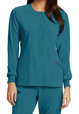 Barco One 4 Pocket Jewel Neck Warm Up Jackets