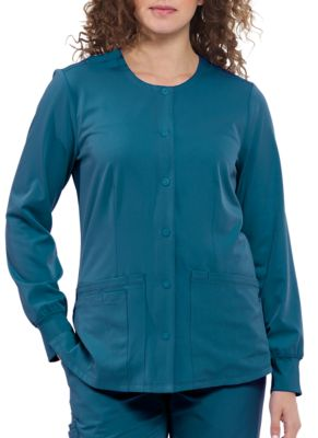 HH Works Megan 4 Pocket Snap Front Scrub Jacket