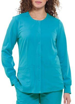 HH Works Megan 4 Pocket Snap Front Scrub Jacket