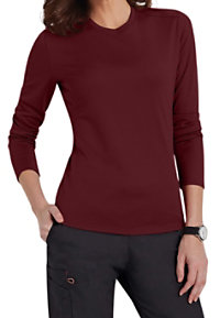 Scrubzone Red Long Sleeve Mesh Tech Scrub Tees
