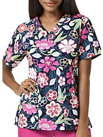 Handmade Blossom V-Neck Print Top