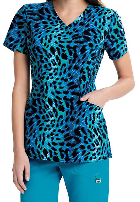 9a4e424a4ad Careisma By Sofia Vergara Feeling Fierce Print Scrub Tops | Scrubs & Beyond