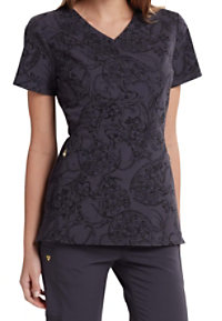 Careisma By Sofia Vergara Pretty Little Paisley Print Scrub Tops