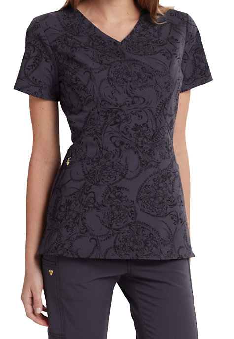 see details item 601pl careisma by sofia vergara pretty little paisley print scrub tops