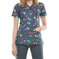 Cherokee Ready To Flamingo Print Tops