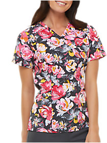 Rose To The Occasion Pewter Print Top
