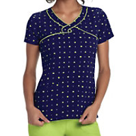 HeartSoul What A Square Navy Print Tops