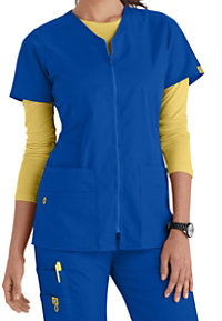 WonderWink Origins Kilo Zip Front V-neck Scrub Jackets
