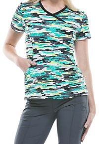 Infinity By Cherokee Camo Kind Of Love Print Scrub Tops With Certainty