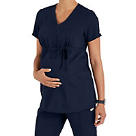 b1b11566beb Grey's Anatomy Maternity Mock Wrap Scrub Top